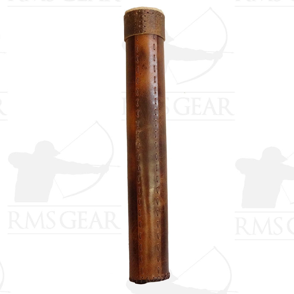 Brown Wool Lined Tube Quiver - TQMI