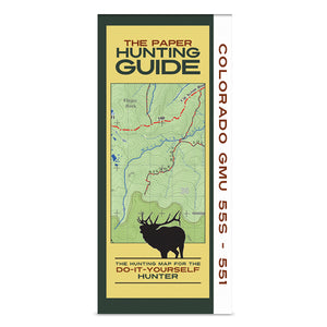 DIY Hunting Map - Colorado GMU's 55S-551