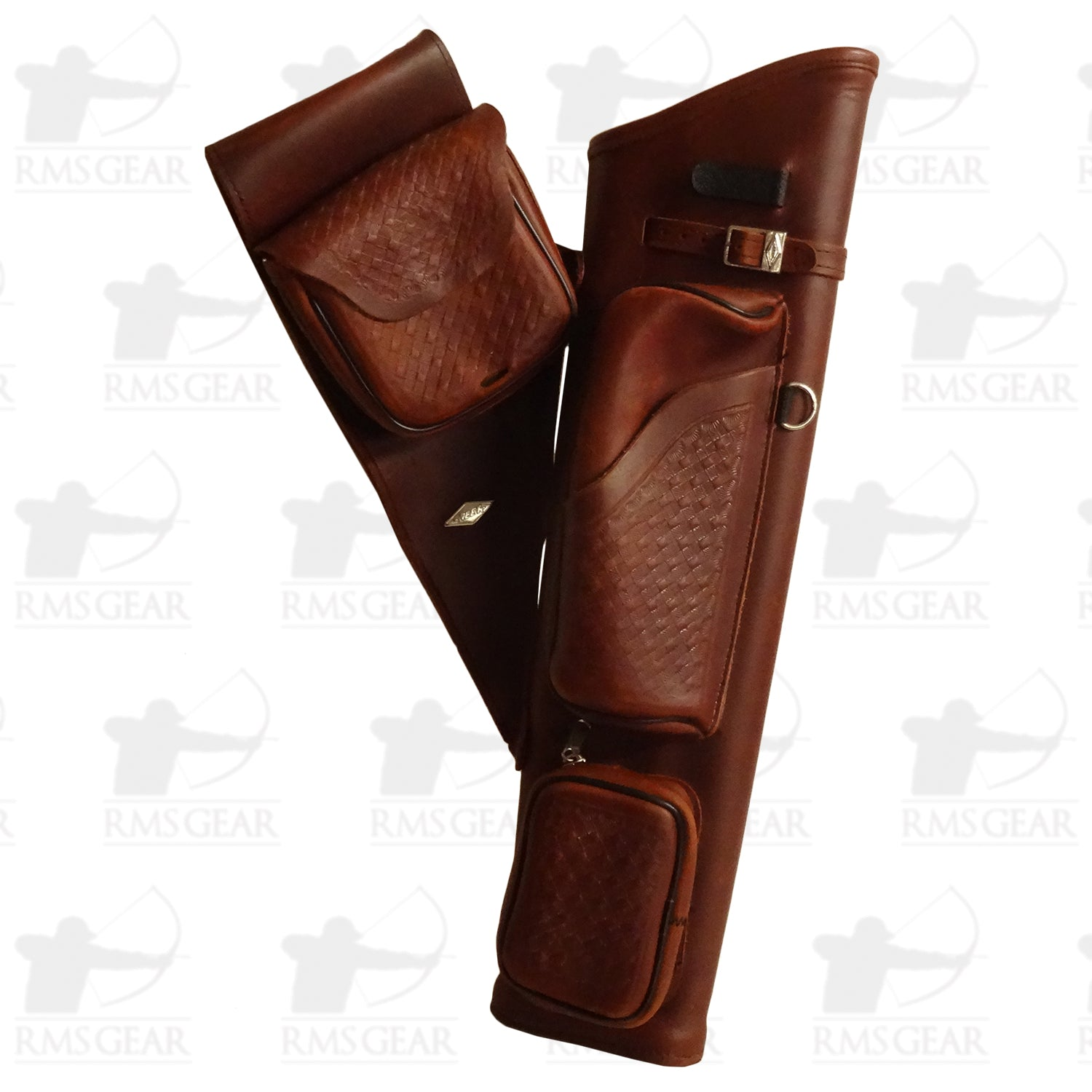 Used Neet Brown Leather Hip Quiver - USEDHQMA1