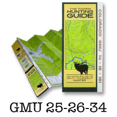 DIY Hunting Map - Colorado GMU 25-26-34