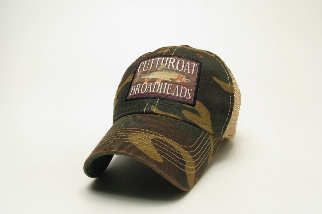 RMSGEAR Mesh Trucker Hat Camo Cutthroat