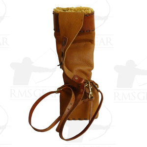 Custom Leather Back Quiver with Pocket - CQPI