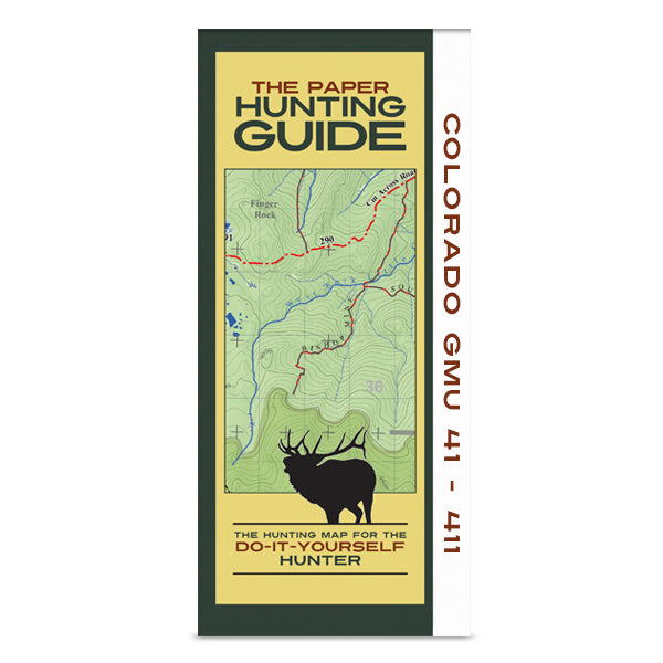 DIY Hunting Map - Colorado GMU's 41-411