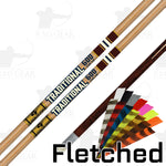 Gold Tip Traditional Classic XT Fletched Arrows