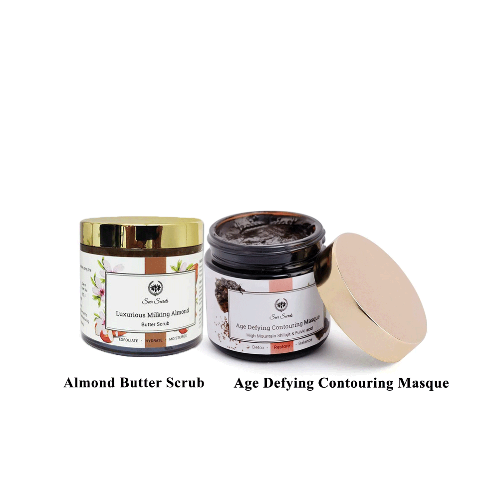 Lujobox Age Defying Contouring Masque and Almond Butter Scrub combo