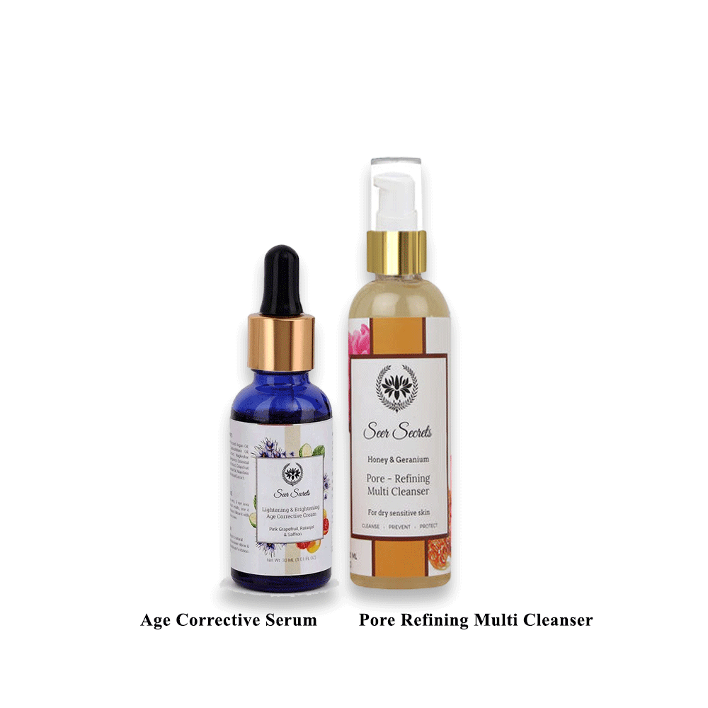 Lujobox Age Corrective Serum and Pore Refining Multi Cleanser Combo