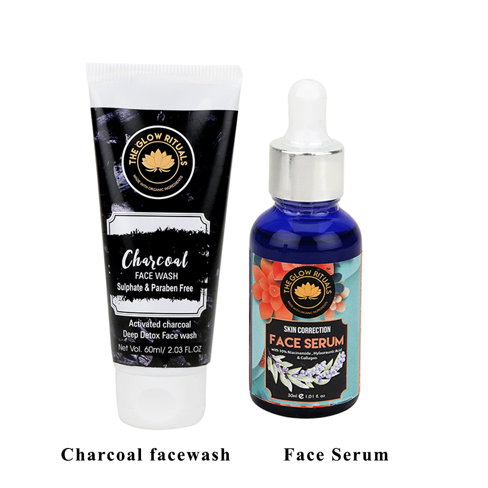 Lujobox Charcoal Facewash & Skin Correction Serum Combo