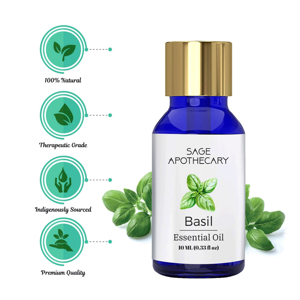 Sage Apothecary Basil Essential Oil