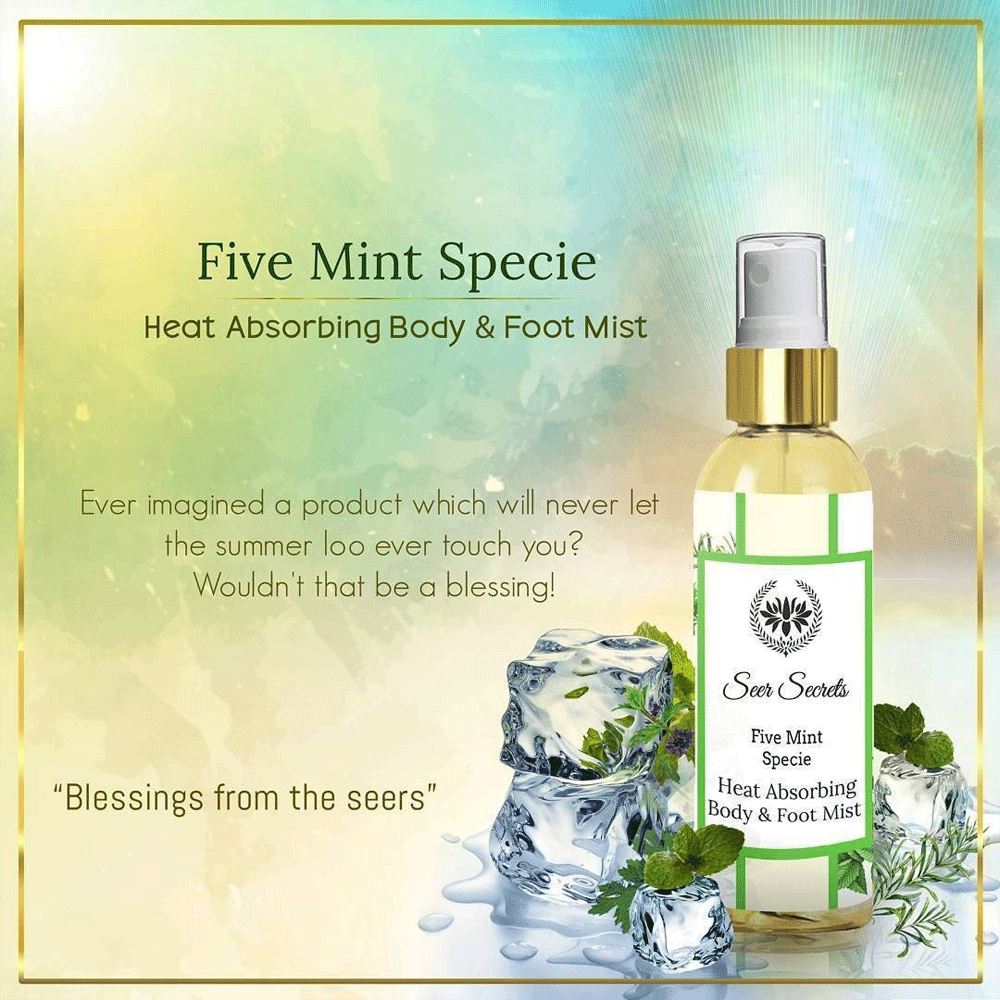 Seer Secrets Five Mint Body & Foot Mist Liquid Air Conditioner