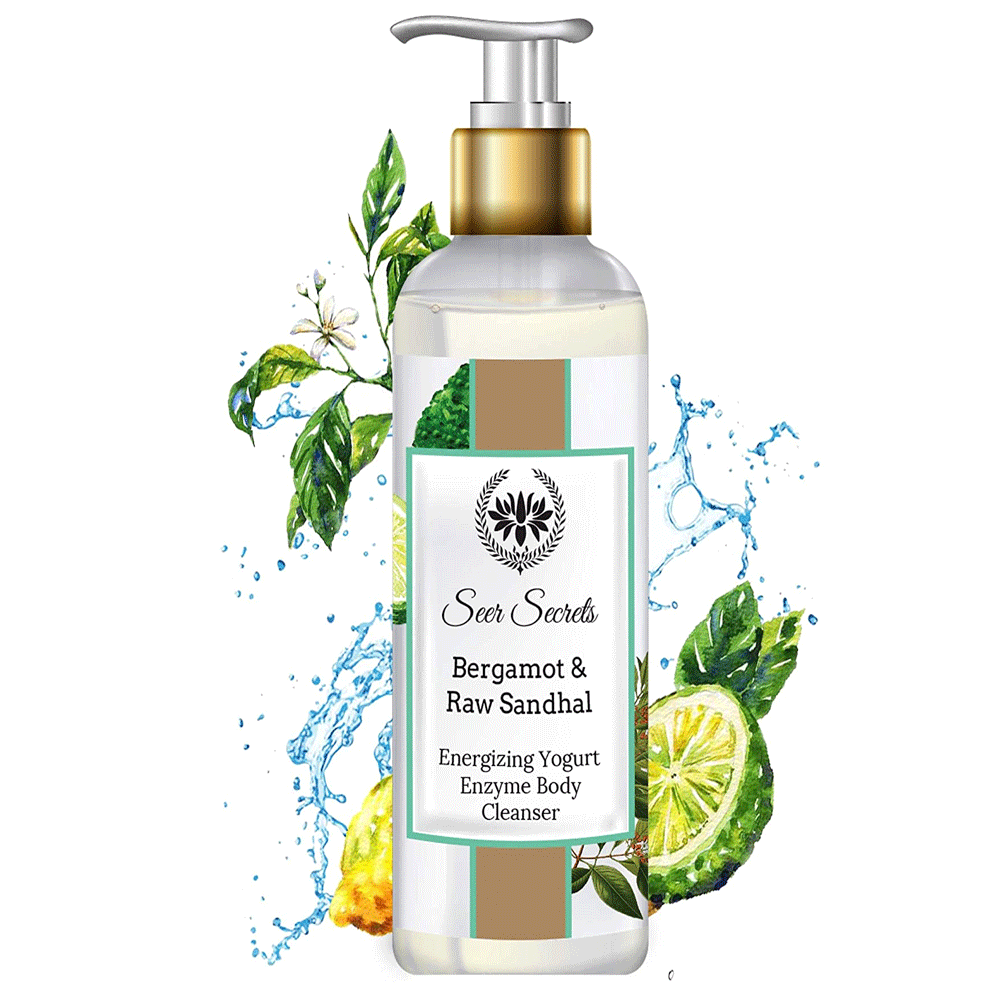 Seer Secrets Bergamot & Raw Sandhal Energizing Yogurt Enzyme Body Cleanser