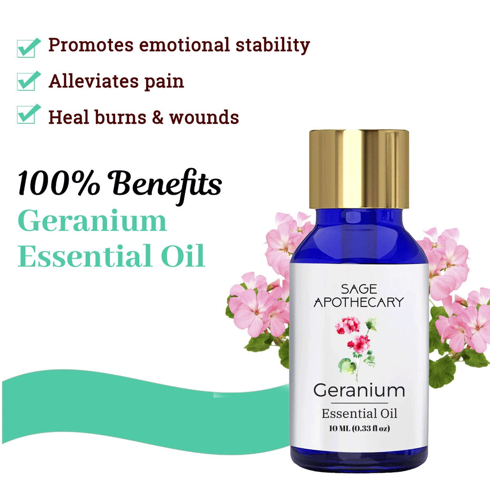 Sage Apothecary Natural Geranium Essential Oil
