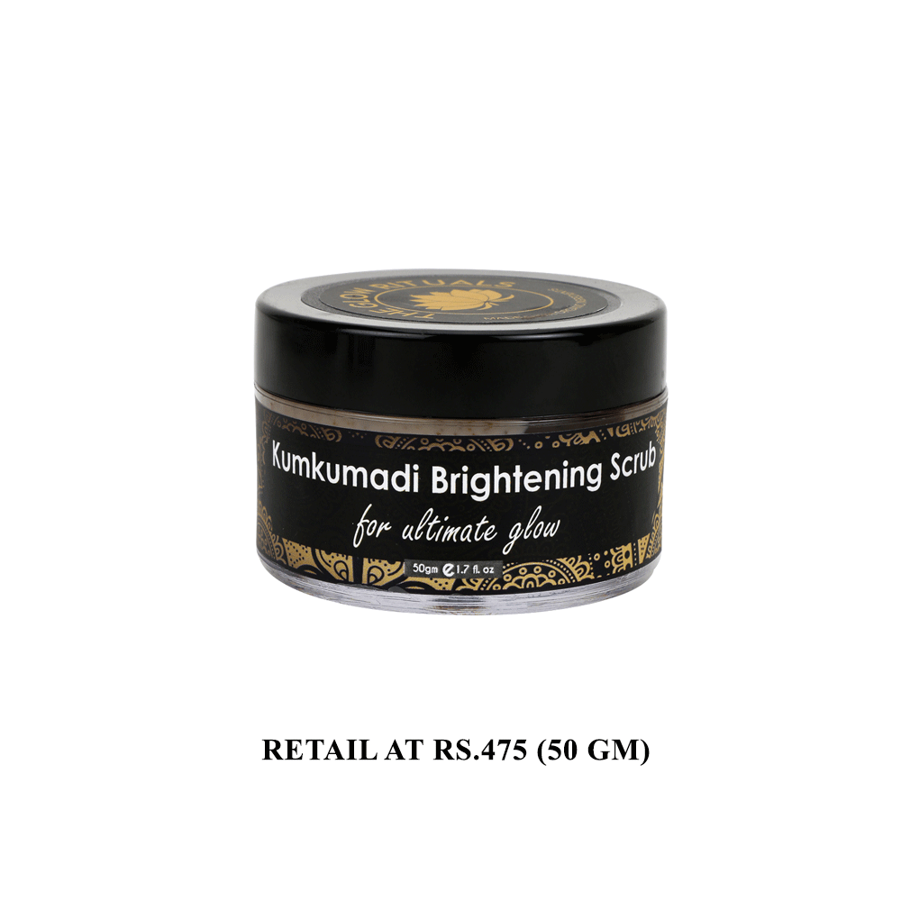 The Glow Rituals Kumkumadi Face Pack & Brightening Scrub Combo By Lujobox