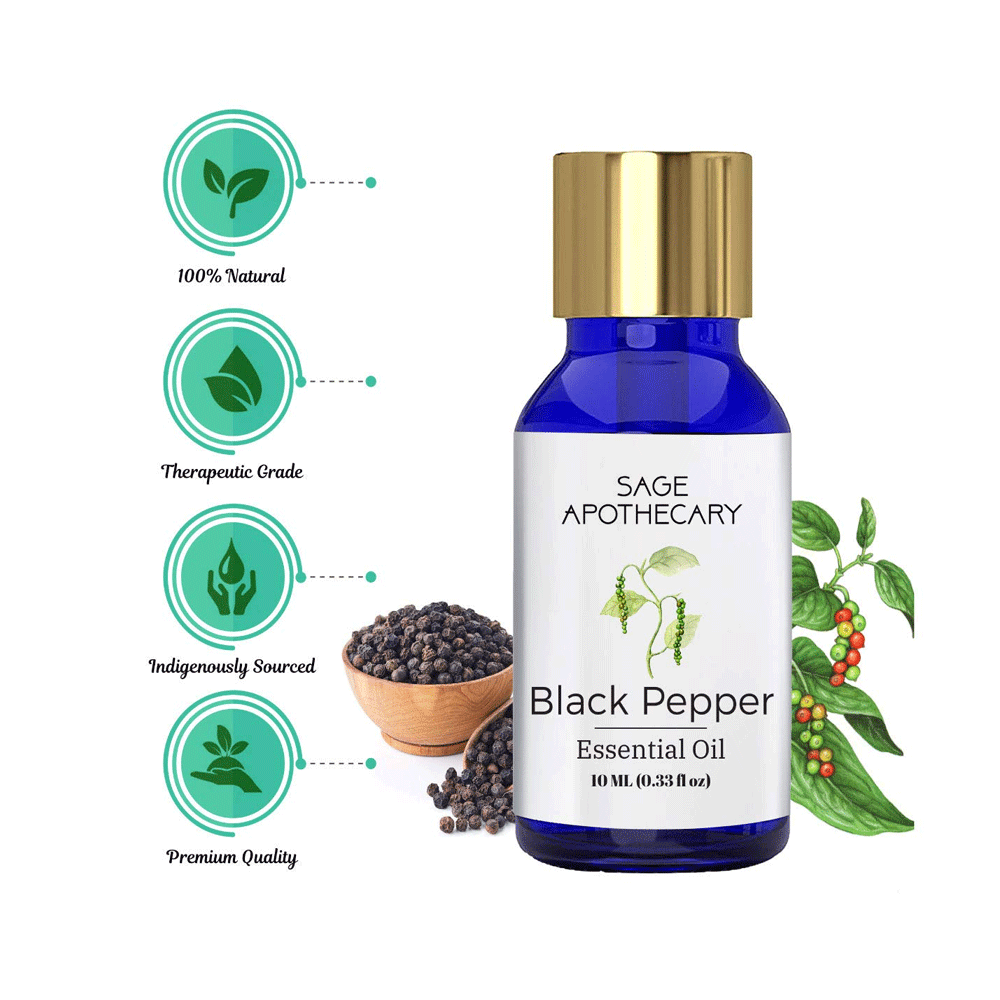 Sage Apothecary Black Pepper Essential Oil