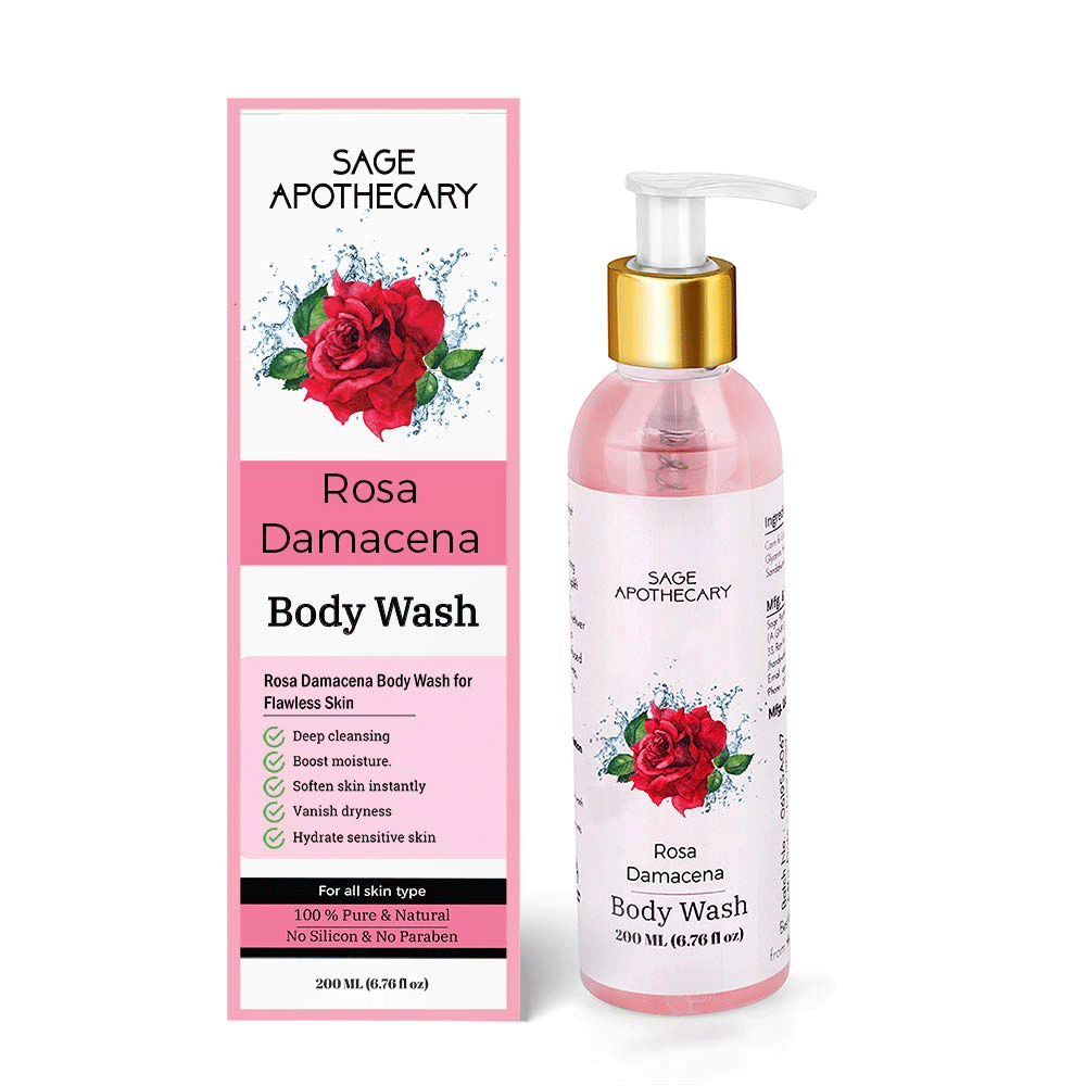 Sage Apothecary Rosa Damacena Body Wash