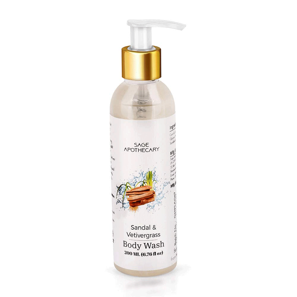 Sage Apothecary Sandal & Vetivergrass Body Wash