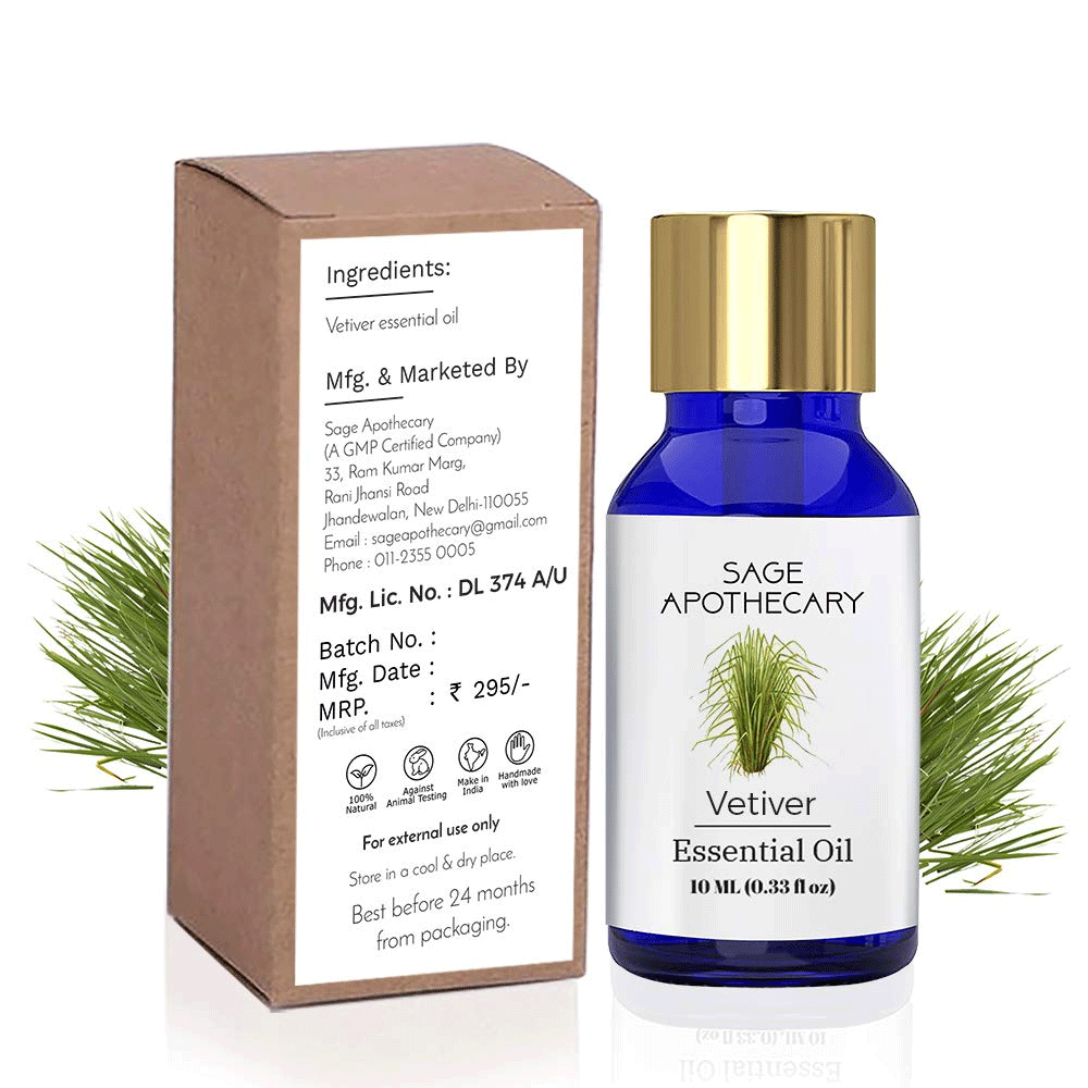 Sage Apothecary Vetiver Essential Oil