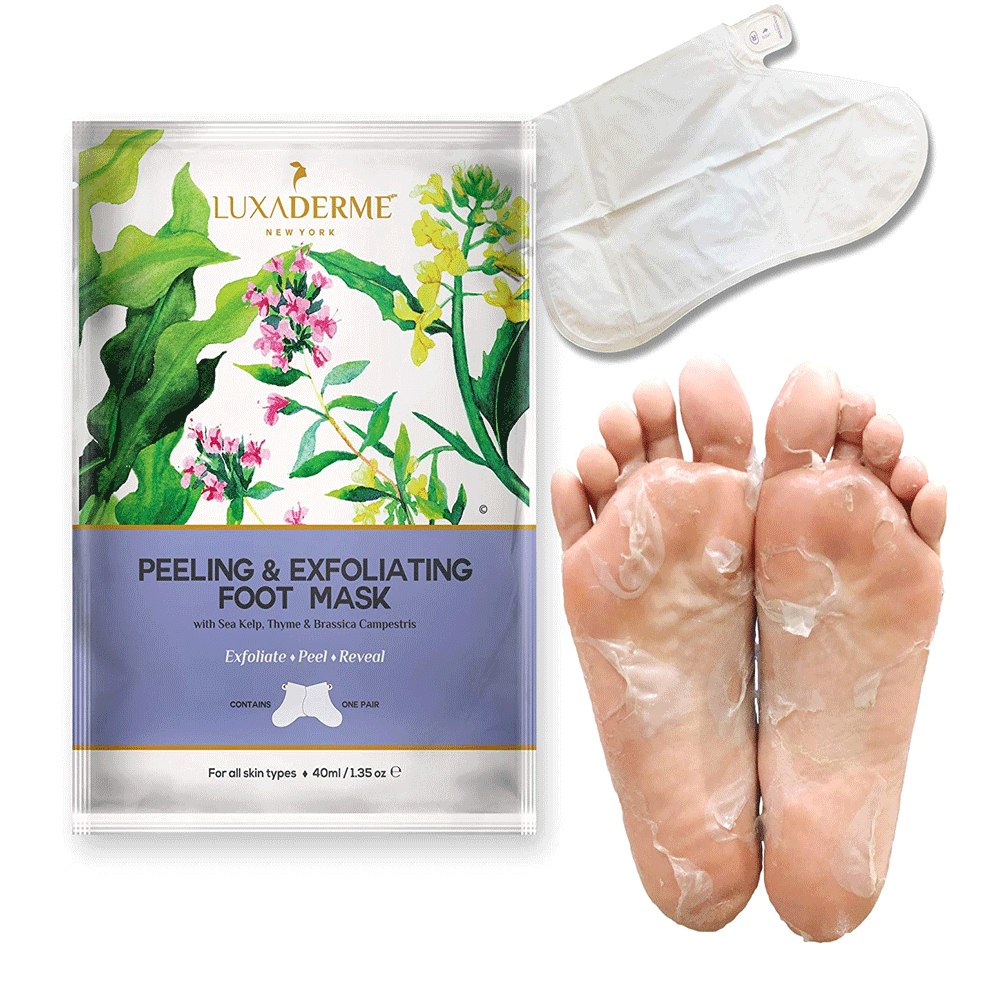 LuxaDerme Peeling & Exfoliating Foot Mask - Lujo Box Beauty Box Subscription