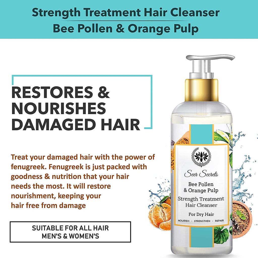 Seer Secrets Bee Pollen & Orange Pulp Strength Cleanser For Dry Hair