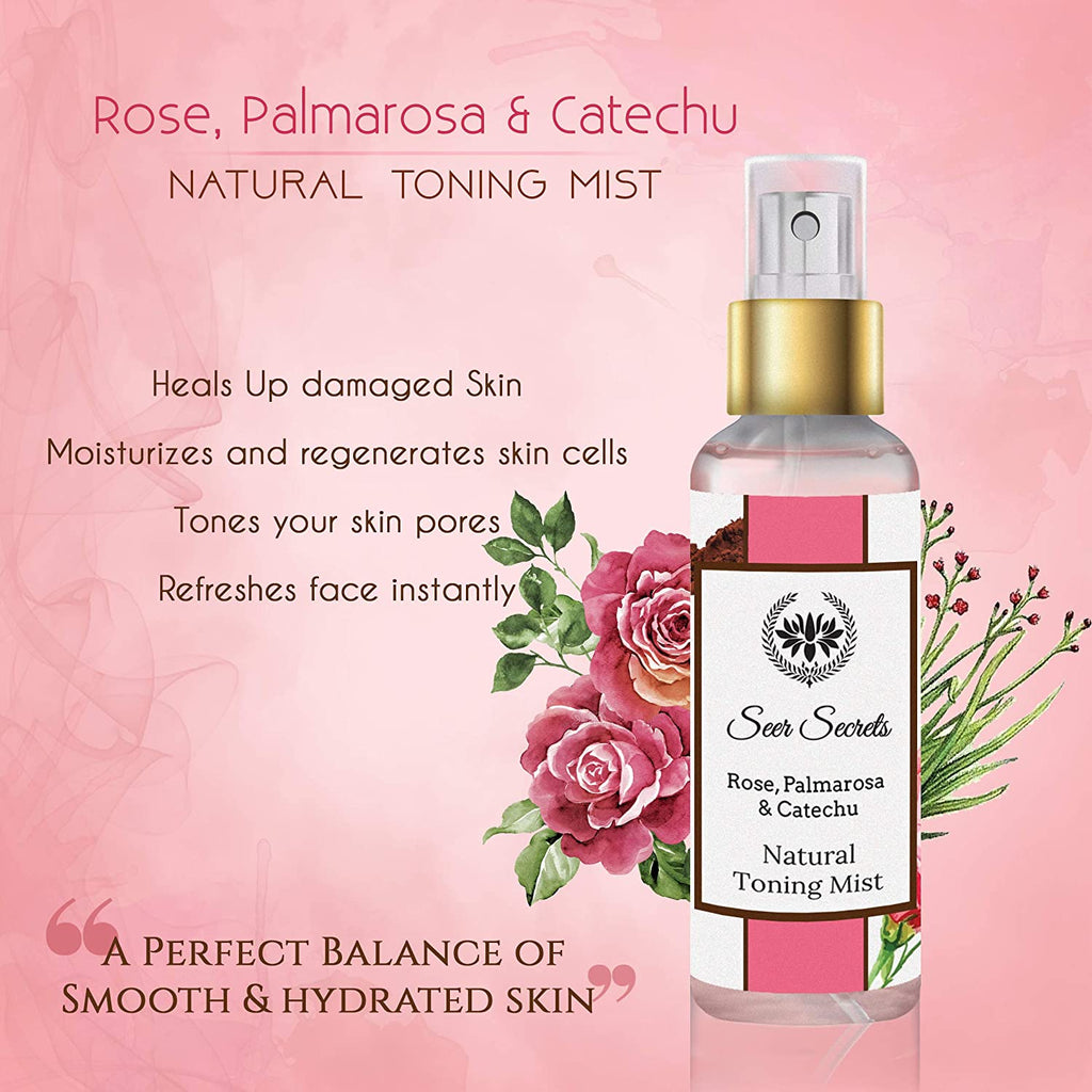 Seer Secrets Rose, Palmarosa & Catechu Natural Toning Mist