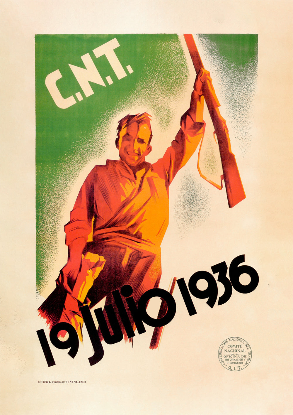 19 July 1936 – Spanish Civil War poster