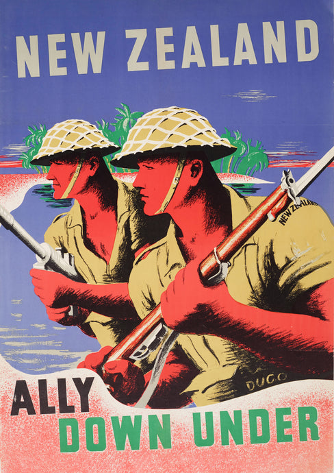 New Zealand, Ally Down Under – World War Two poster