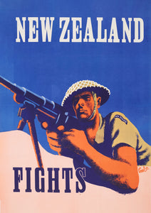 New Zealand Fights – World War Two poster