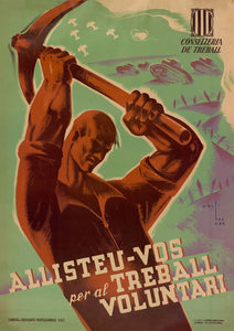 Enroll for Volunteer Work – Spanish Civil War poster