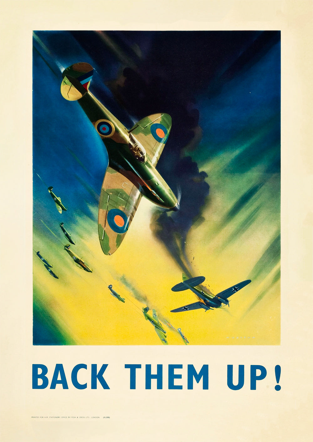 Back them up! – British Word War Two poster