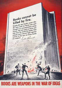 Books are weapons in the war of ideas – American World War Two poster