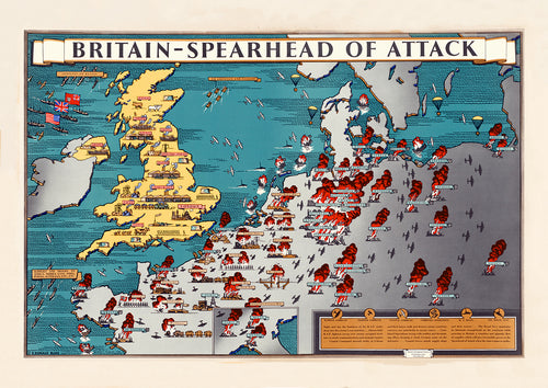 Britain: spearhead of attack – British World War Two poster