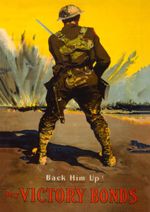 Back him up! – Canadian World War One poster