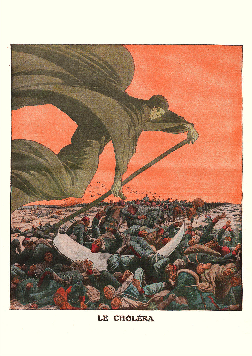 Cholera – French newspaper cover