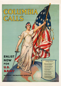 Columbia calls – US World War Two poster