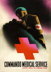 Commando Medical Service – British World War Two poster
