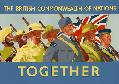 Commonwealth of Nations Together – British World War Two poster