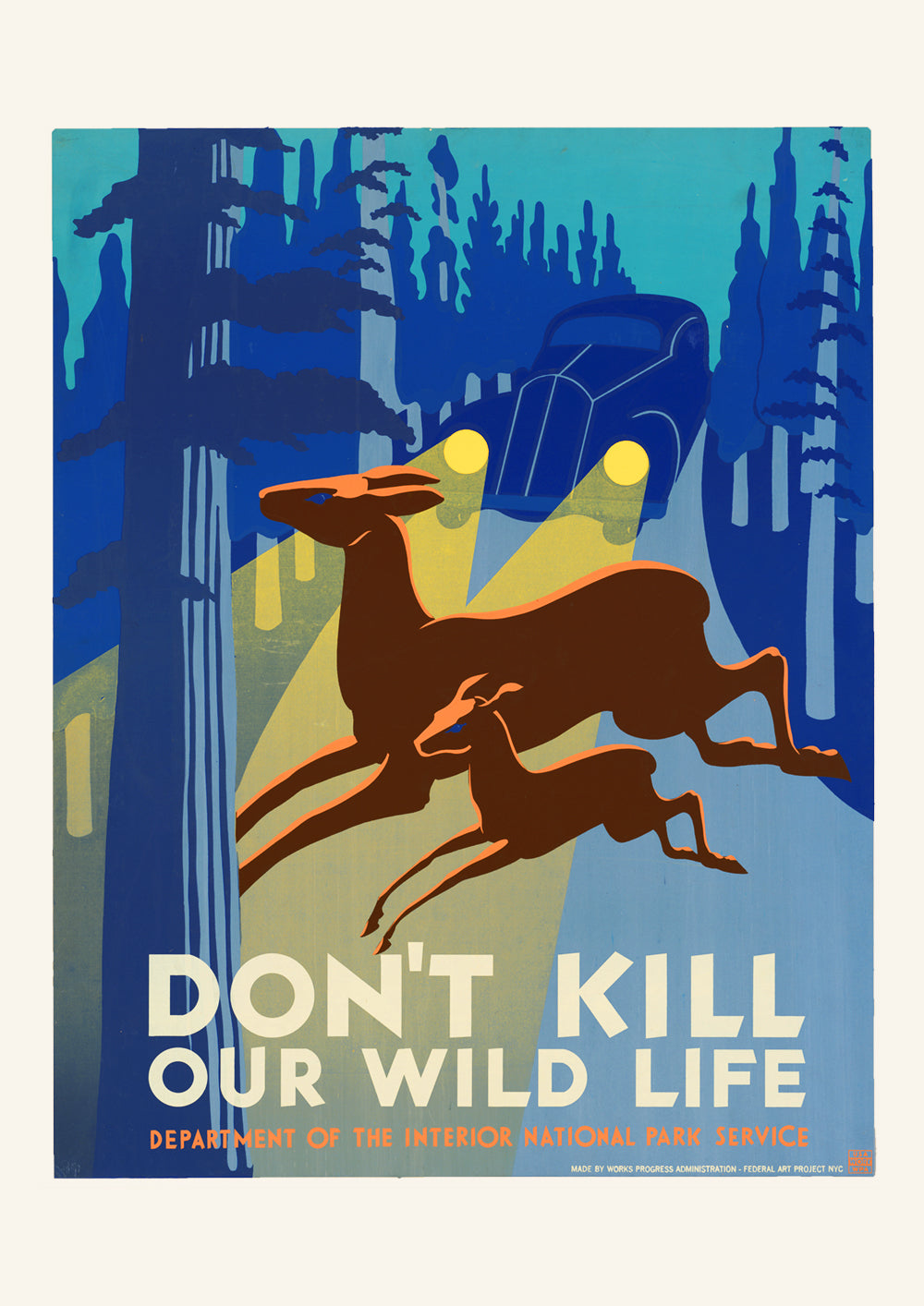 Don't kill our wildlife – American poster