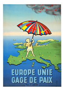 United Europe, guarantee of peace - French poster