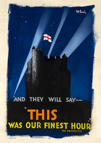 This was our finest hour – British World War Two poster