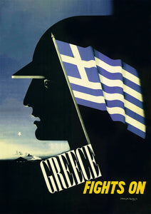 Greece Fights On – Greek World War Two poster