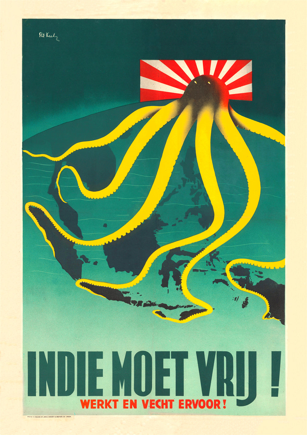 The Indies must be free! – Dutch World War Two poster