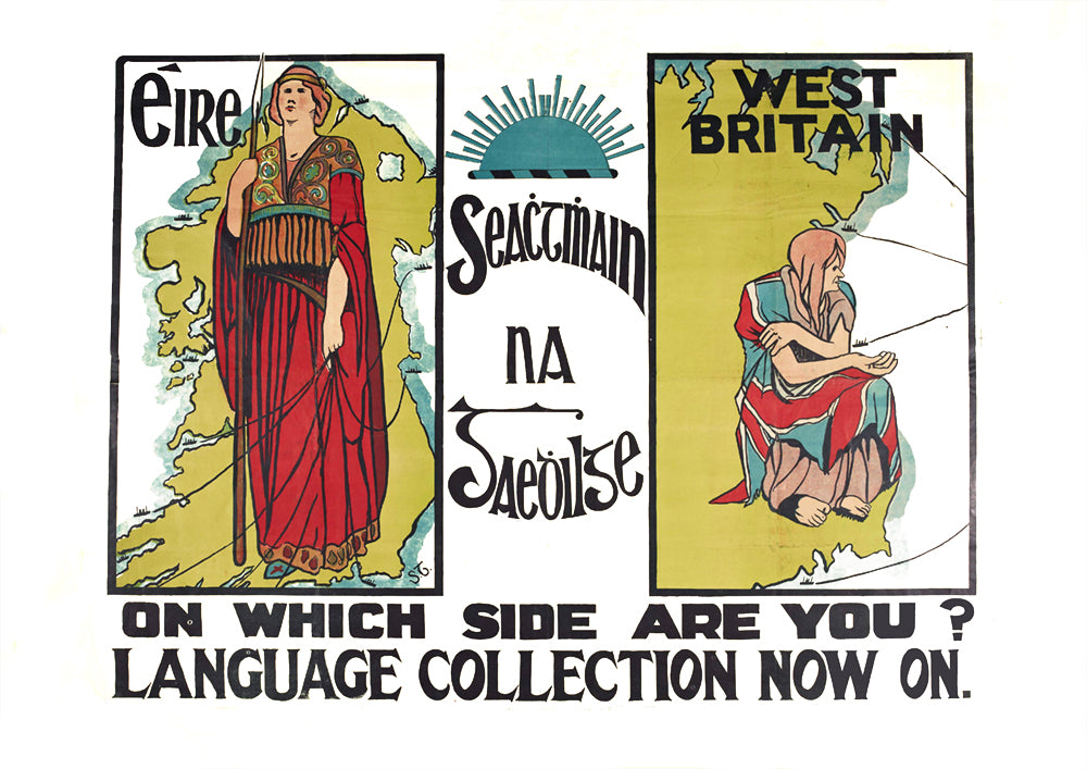 Éire, West Britain, on which side are you? – Irish poster