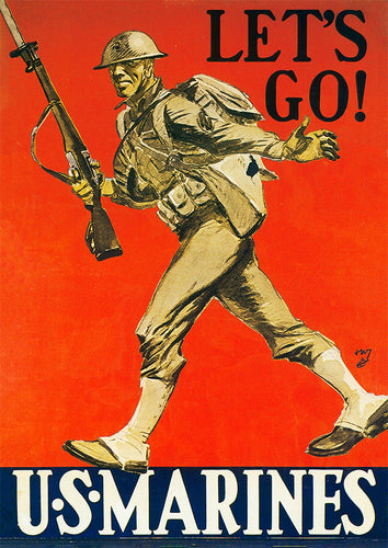 Let's Go! – US World War Two poster