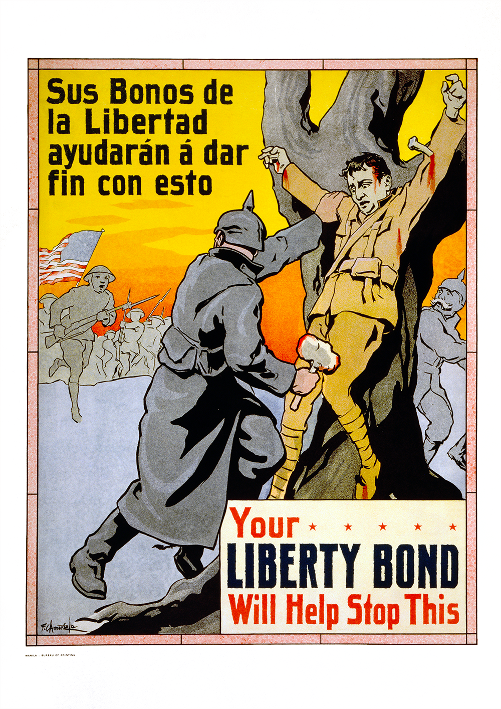 Your Liberty Bond will help stop this – US World War One poster
