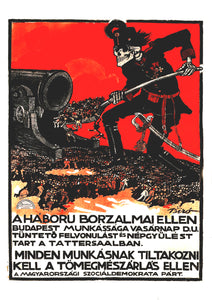 All workers must protest the horrors of modern war – Hungarian poster