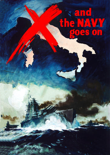 And the navy goes on! – British World War Two poster