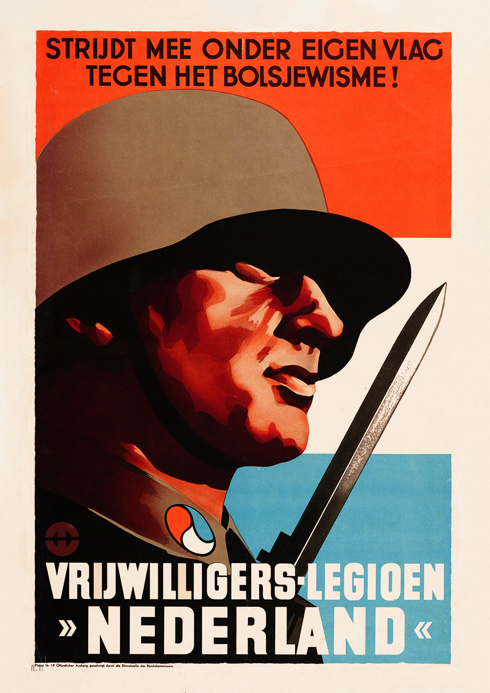 Fight under your own flag against Bolshevism! – Dutch World War Two poster