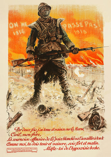 They shall not pass – French World War One poster