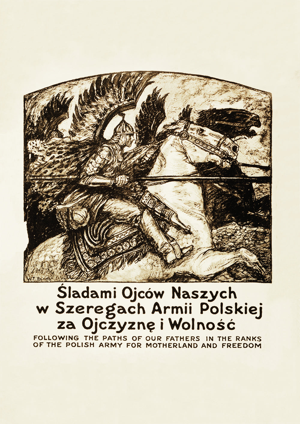 Following the paths of our fathers - Polish World War One poster