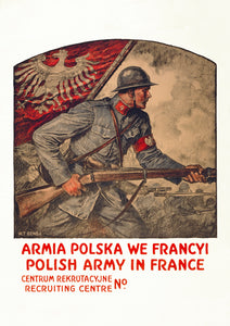 Polish Army in France – Polish World War One poster