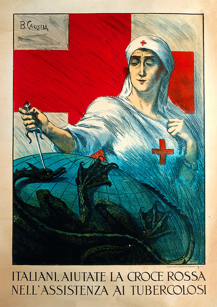 Italians, help the Red Cross – Italian poster